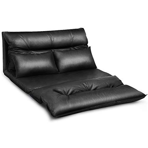 Giantex PU Leather Floor Gaming Sofa