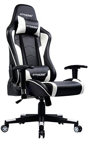Overall Best Pick: GTRACING GT890M Racing Style Black and White Gaming Chair