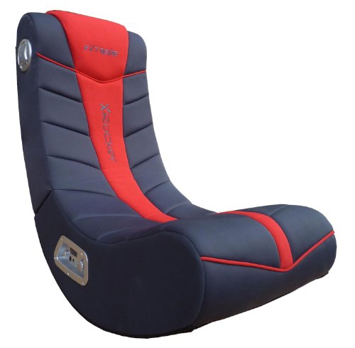 X Rocker Extreme III 2.0 Sound Wired Foldable Video Gaming Rocking Floor Chair, with 2 Speakers-...