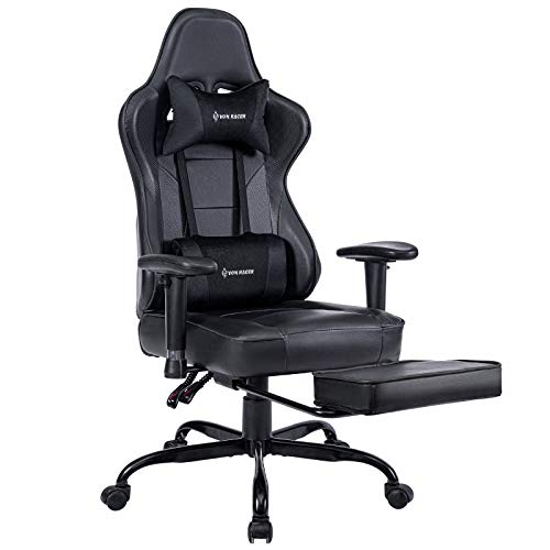 VON RACER Massage Gaming Chair, High Back Racing PC Computer Desk Office Chair Swivel Ergonomic...