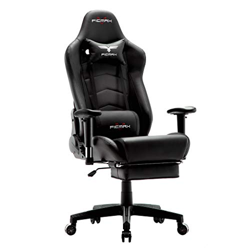 Ficmax Ergonomic Gaming Chair Massage Computer Gaming Chair Reclining Racing Office Chair with...