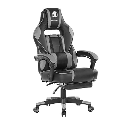 KILLABEE Leather Massage Gaming Chair w/Footrest