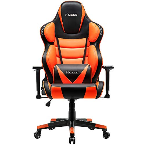 Musso Big & Tall (Orange) Gaming Chair Adults Racing Computer Gamer Chair with Fully Foam, Esports...