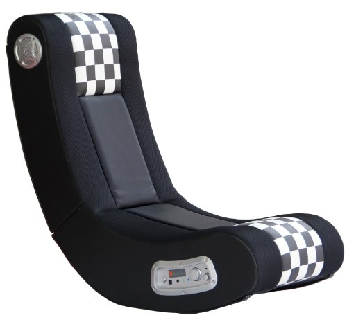 X Rocker Drift Wireless Black and White Checkered Flag 2.1 Wireless Foldable Rocking Video Gaming...