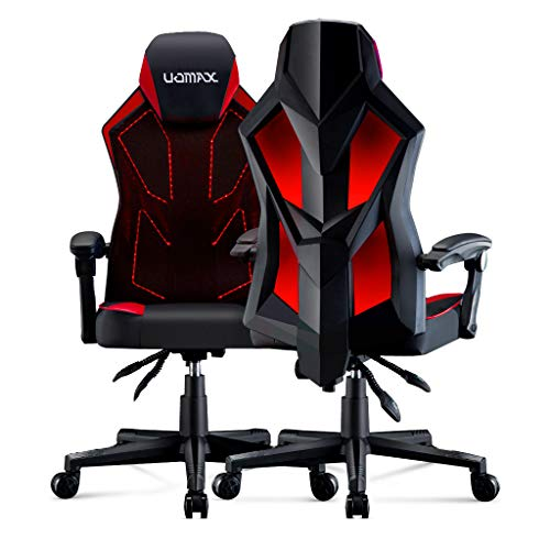 UOMAX Gaming Chair, Reclining Racing Chair with LED Lights, Ergonomic Computer Chair with Lumbar...