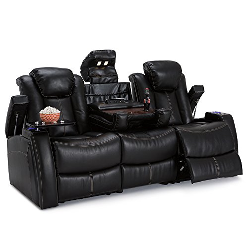 Seatcraft Omega Home Theater Gaming Sofa w/USB