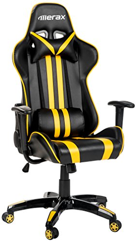 Merax Racing Gaming Chair with Footrest   Ergonomic Office Reclining Chair for Computer Gamers PC...