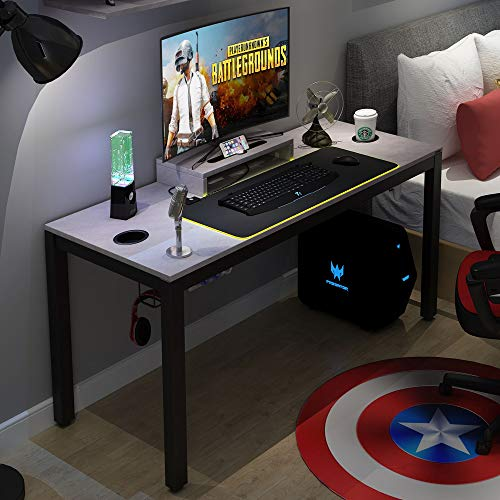 Need Gaming Desk All-in-one Gaming Computer Desk with RGB LED Soft Gaming Mouse Pad 60' Length for...