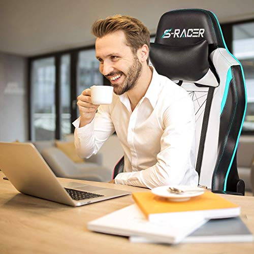 Homall Gaming Chair Executive Office Chair Desk Chair Racing Style Chair Padded Armrests Task Chair...