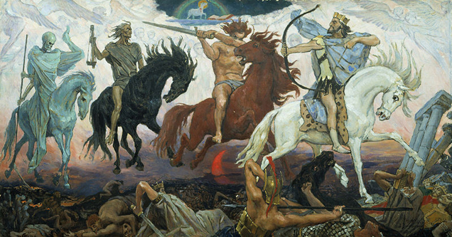 Four Horsemen of the Apocalypse, by Viktor Vasnetsov (1887).