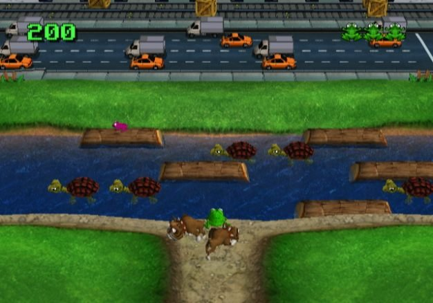game frog crossing road