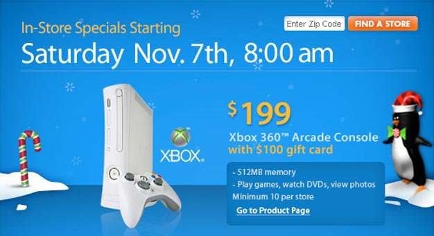 One day only Walmart sale has 360 Arcade for $199 plus $100 gift