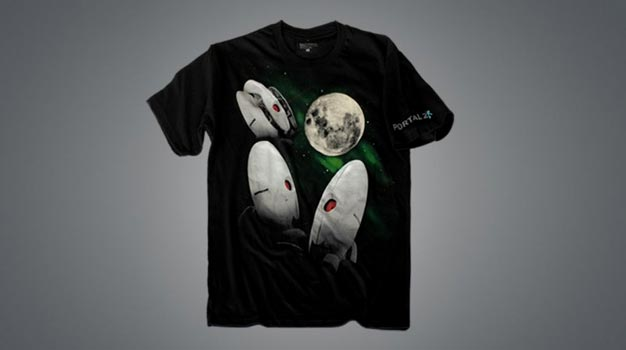 portal turret shirt make room in your closet for the three turret moon t shirt that