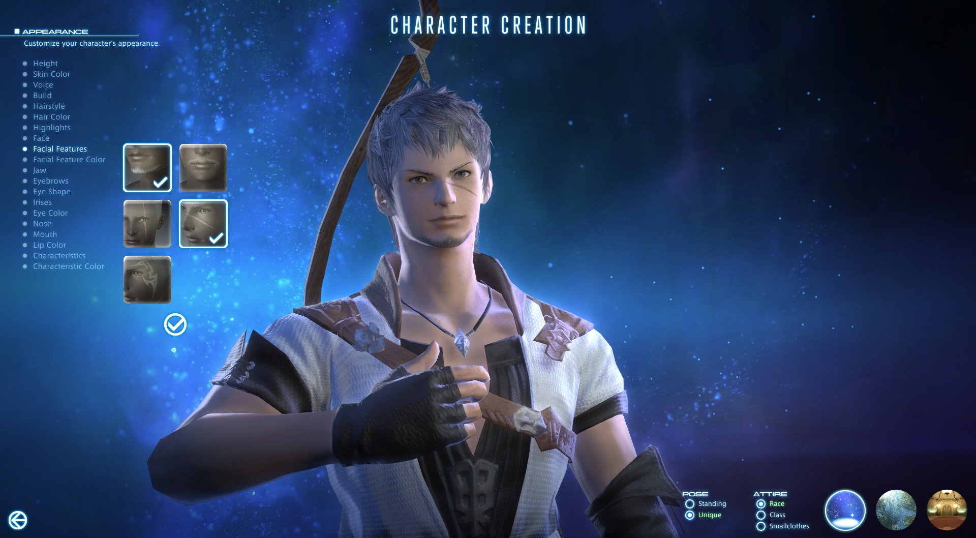 Final Fantasy XIV character creation 2