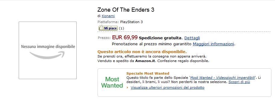 ZoE3 Amazon Italy