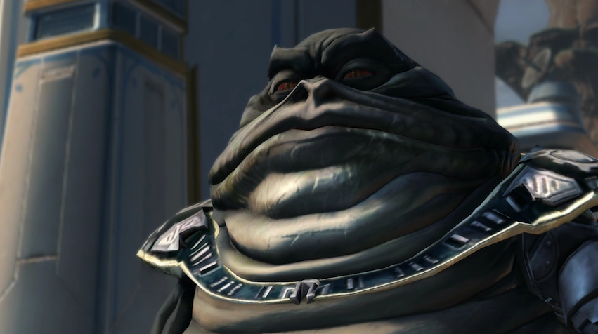 SWTOR's new expansion features the Hutt Cartel, a criminal business alliance of Hutts.