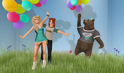 One of the ways people party in Second Life.