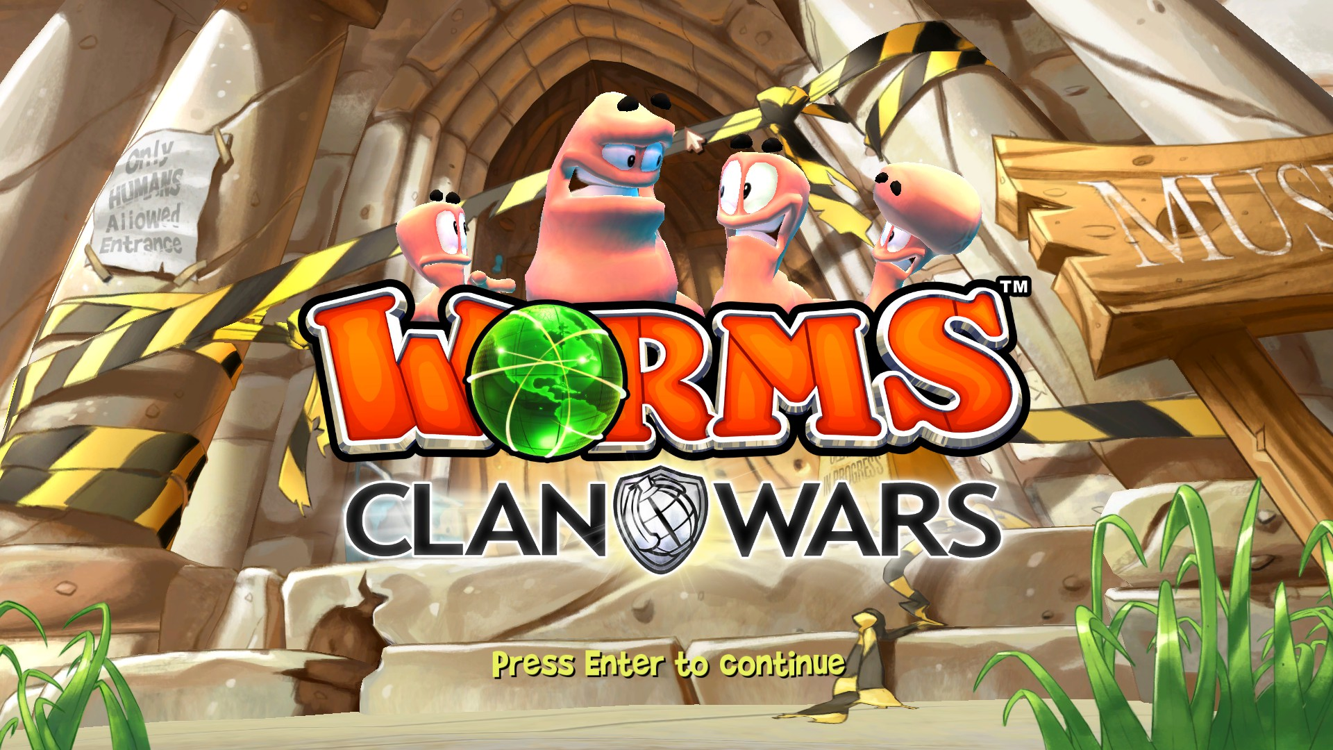 Worms Clan Wars title screen