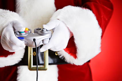 santa-playing-video-games