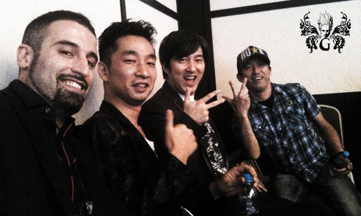 From left to right: Massimo Guarini, Akira Yamaoka, Goichi Suda, Shinji Mikami. Image credit: massimoguarini.com