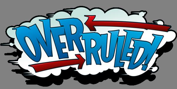 Overruled logo