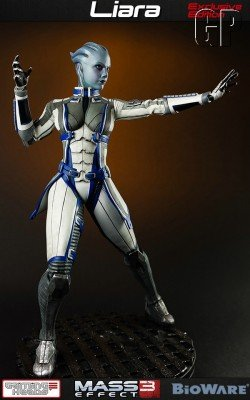 Without blue thingees, Liara is forced to strike a pose to stave off the Reapers