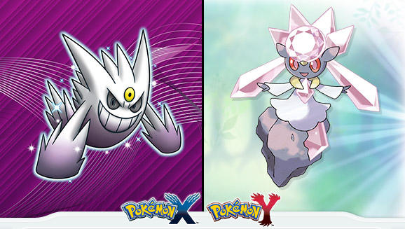 Shiny Gengar and Diancie