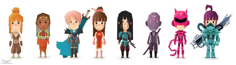 female-armors-planets-cube
