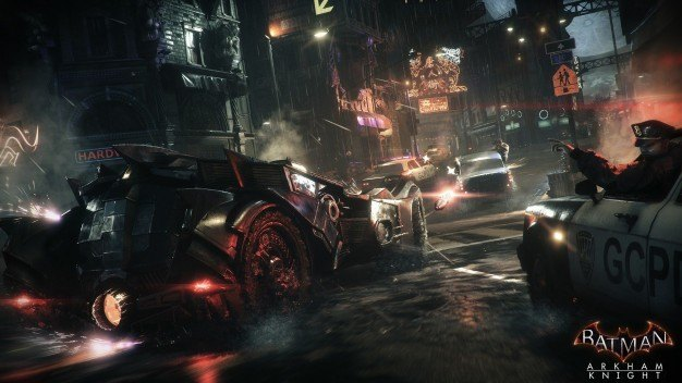 One of Arkham Knight's many, many, MANY car chases