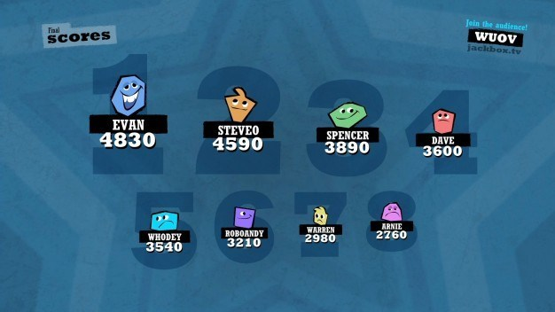 Quiplash allows up to 8 players in a single game.
