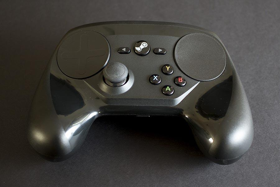 steam controller front