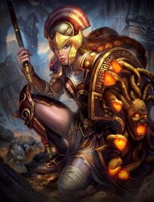 SMITE Gorgon Athena