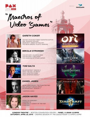 2016 PAX East Maestros of Video Games Poster