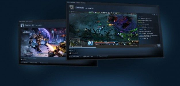 Live streaming screens on Steam