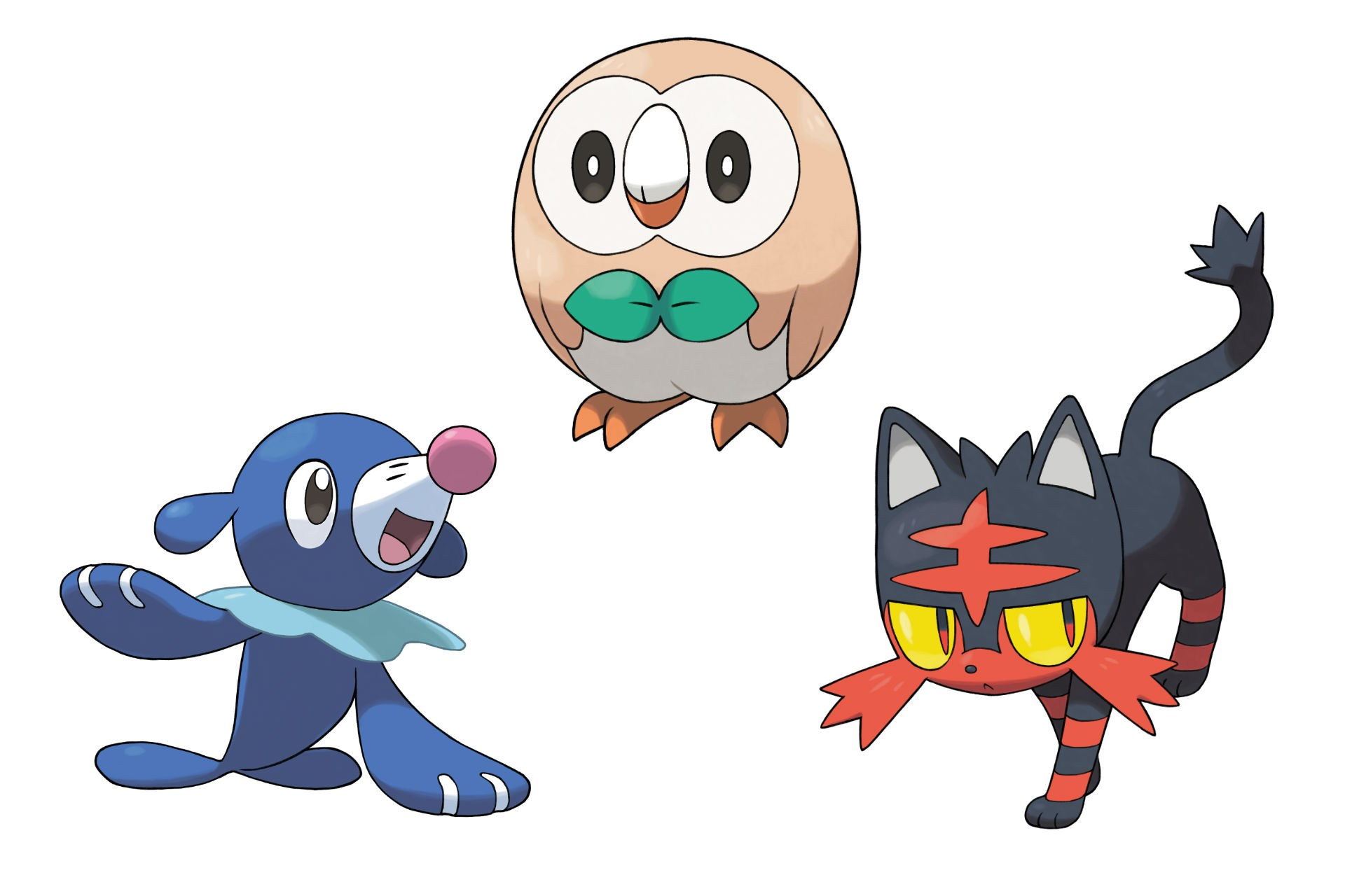 pokemon sun and moon starters revealed! - that videogame blog