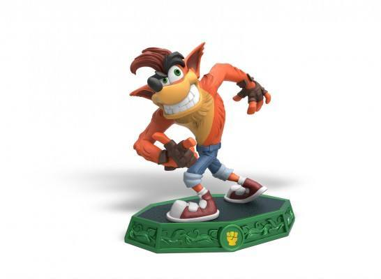 Current model for the Crash Bandicoot Skylanders toy