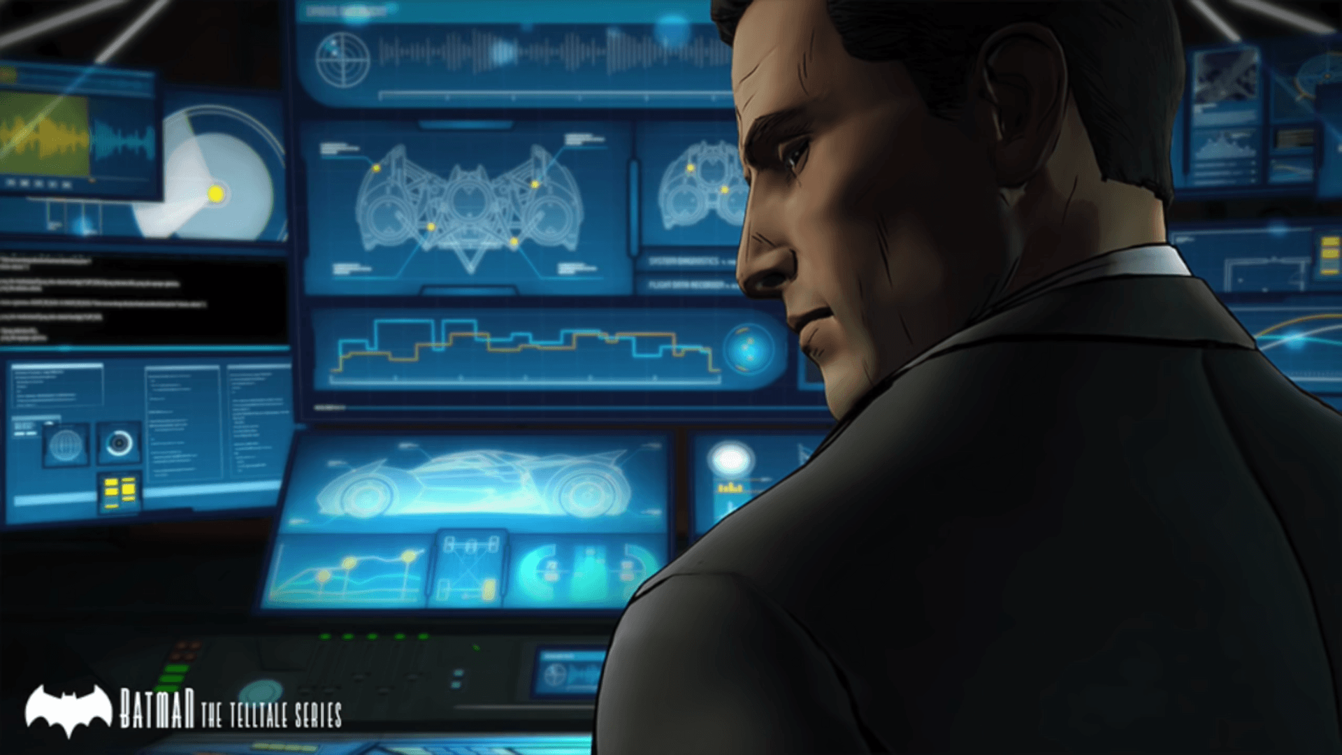 Telltale Batman Bruce Wayne in BatCave