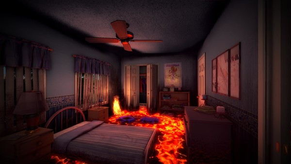 Hot Lava Bedroom Level