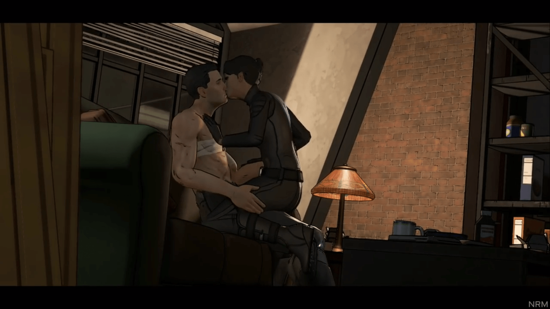it's getting steamy between Batman and Catwoman