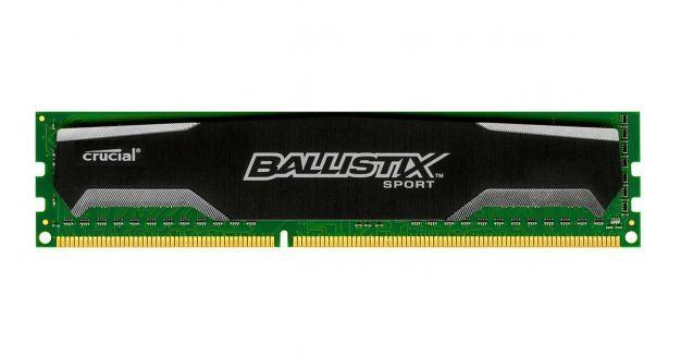 01 Best 4GB DIMM RAM Crucial Ballistix Sport 4GB Single DDR3 1600 MTs CL9