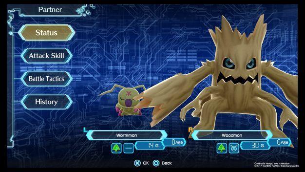 Digimon - Partner Menu
