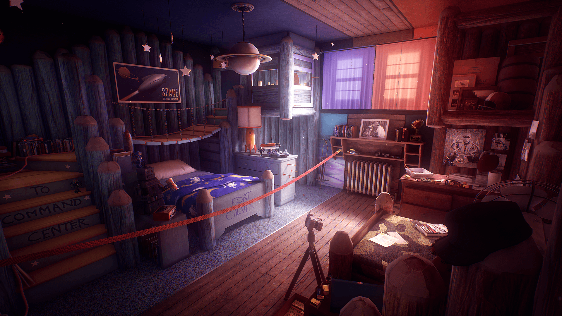 The environments in the house are just as pretty as the ones in the game's flashbacks