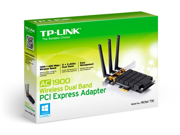 TP-Link AC1900 Wireless Dual Band PCI-Express Adapter (Archer T9E)
