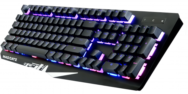 S.T.R.I.K.E. 4 gaming keyboard featuring a fully mechanical key bed aluminum frame and RGB lighting