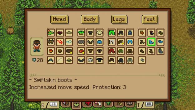 Gear menu
