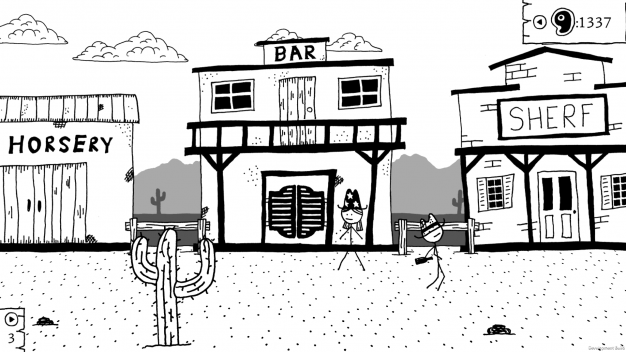 West of Loathing town