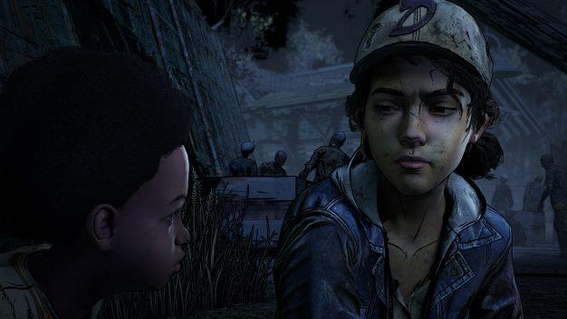 Clem and AJ in The Walking Dead, Final Season