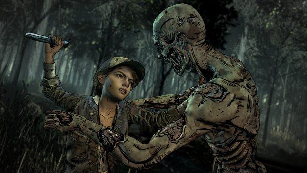 Get 'em, Clem in the Walking Dead: Final Season