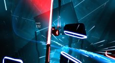 TVGB ViveStream slashes and pokes with Beat Saber