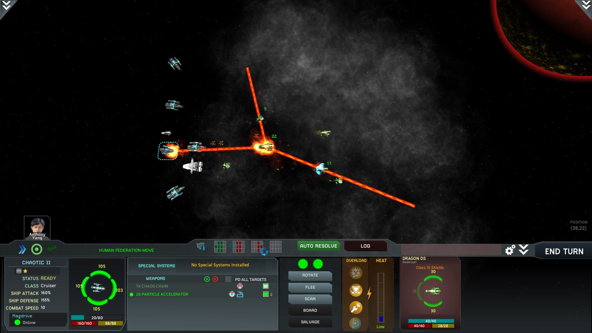 Interstellar space genesis combat